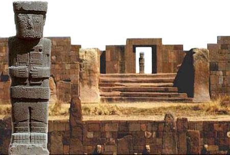 Templo de Kalasasaya y monolito Ponce