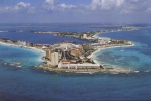Imagen aérea de Cancún en México