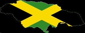Flag-map of Jamaica