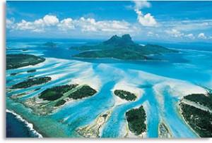 Imagen aérea de Bora Bora